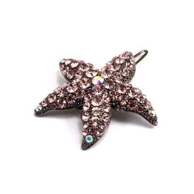 Soho Style Barrette Purple Small Starfish Barrette