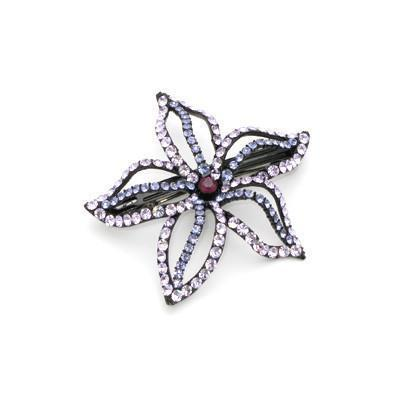 Soho Style Barrette Purple Starfish Flower Barrette