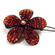 Soho Style Barrette Red / Single Ombre Crystal Flower Barrette