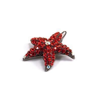 Soho Style Barrette Red Small Starfish Barrette