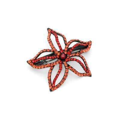 Soho Style Barrette Red Starfish Flower Barrette