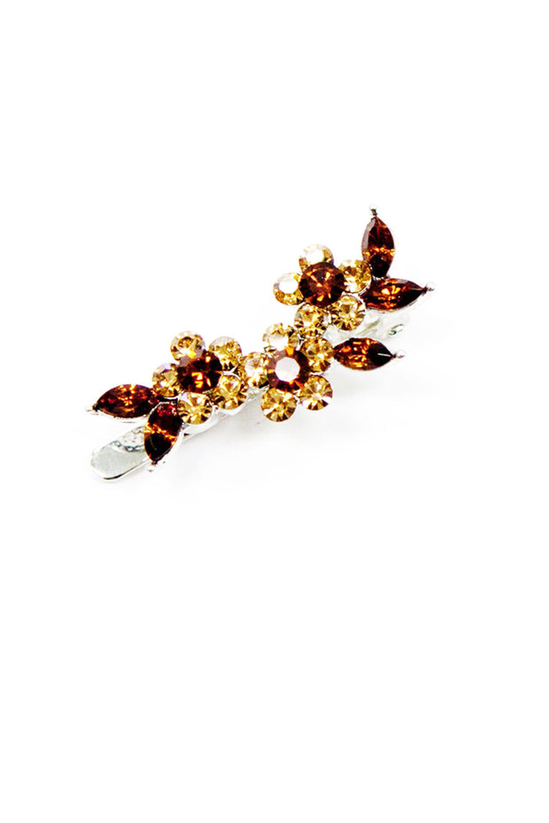 Soho Style Barrette Romantic Mini Crystal Floral Barette