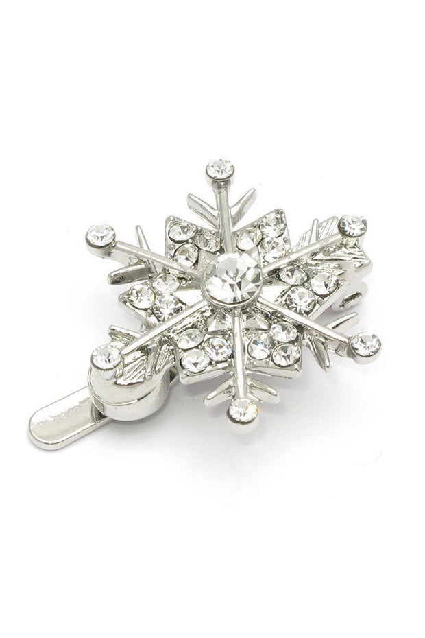 Soho Style Barrette Snowflake Crystal Magnetic Barrettes (6 piece set)