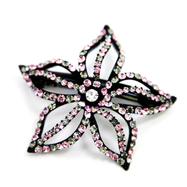 Soho Style Barrette Special Pink Starfish Flower Barrette