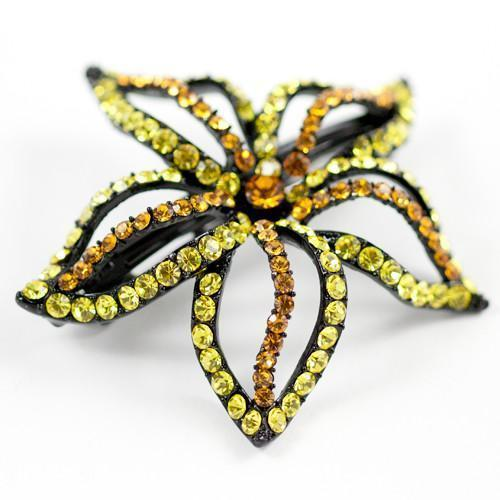 Soho Style Barrette Yellow Starfish Flower Barrette