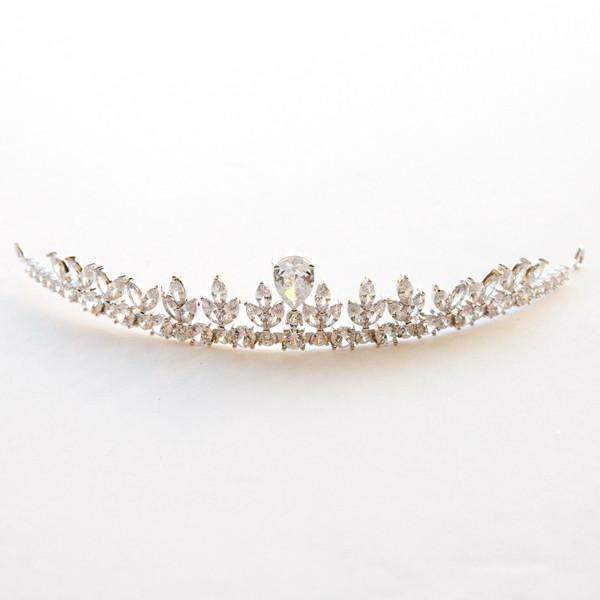 Crystal Teardrop Tiara -  Crown, Soho Style