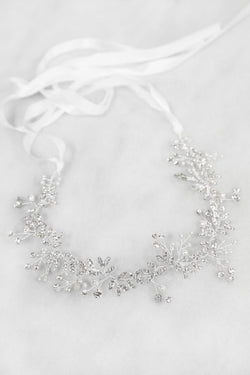 Soho Style Crown Victoria Crystal Baby Breath Flower Hair Crown