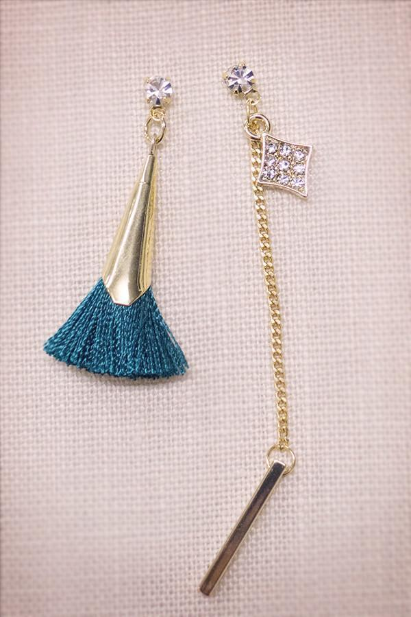 Soho Style Earring Tassel Crystal Earrings