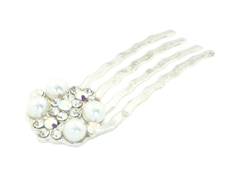 Pearl & Crystal Cluster Mini Comb For the Bride Soho Style