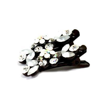 Soho Style Hair Clip Clear / Pair Mini Flower Hair Clips
