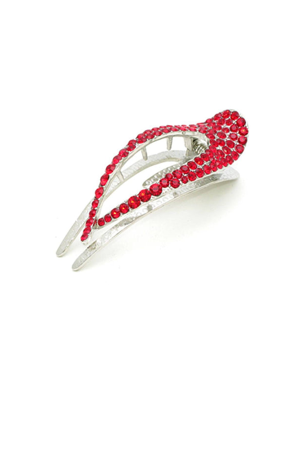 Elongated Crystal Teardrop Hair Clip