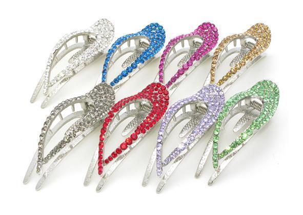 Elongated Crystal Teardrop Hair Clip Hair Clip Soho Style