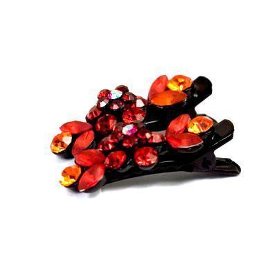 Soho Style Hair Clip Red / Pair Mini Flower Hair Clips