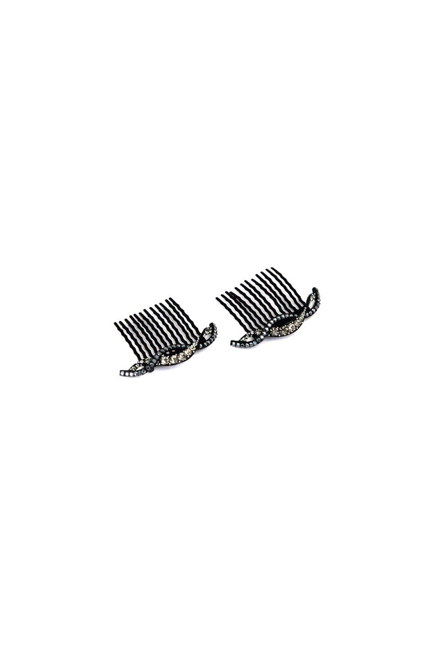 Soho Style Hair Comb black Summer Wave Crystal Hair Comb (Sold as a Pair)