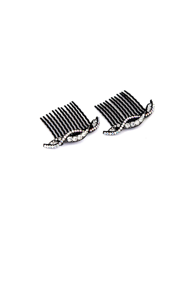 Soho Style Hair Comb clear Summer Wave Crystal Hair Comb (Sold as a Pair)