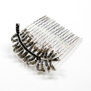 Etherial Feather Crystal comb -  Hair Comb, Soho Style