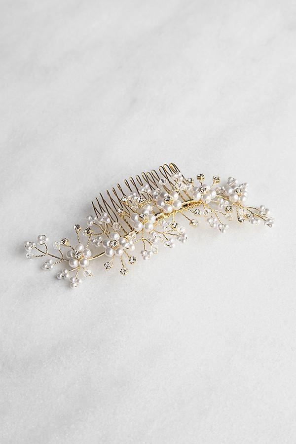 Soho Style Hair Comb Pearly Floral Comb