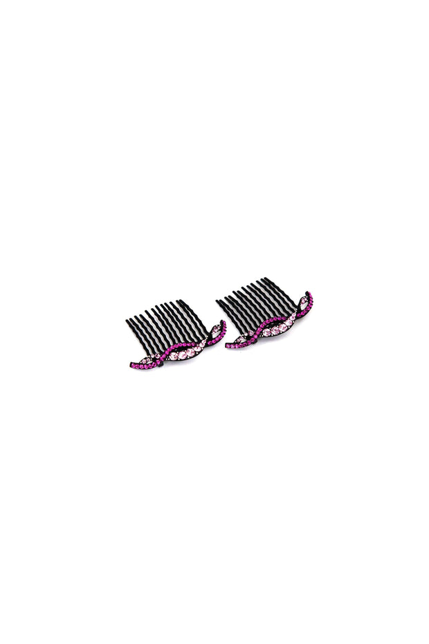 Soho Style Hair Comb pink Summer Wave Crystal Hair Comb (Sold as a Pair)