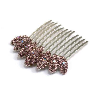 Almond Cluster Crystal Comb -  Hair Comb, Soho Style