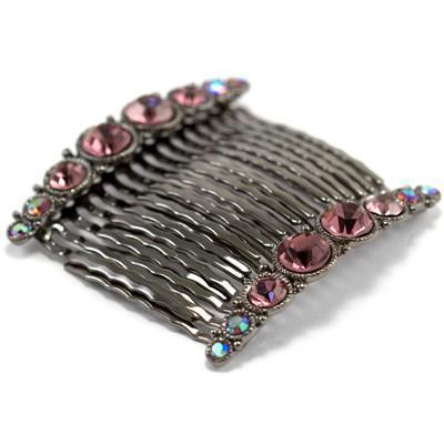 Bejeweled Hair Combs (Pair) -  Hair Comb, Soho Style