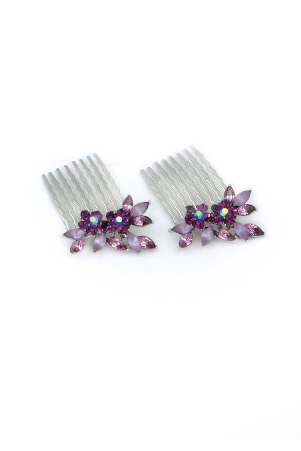 Frosted Vine Hair Combs (Pair)