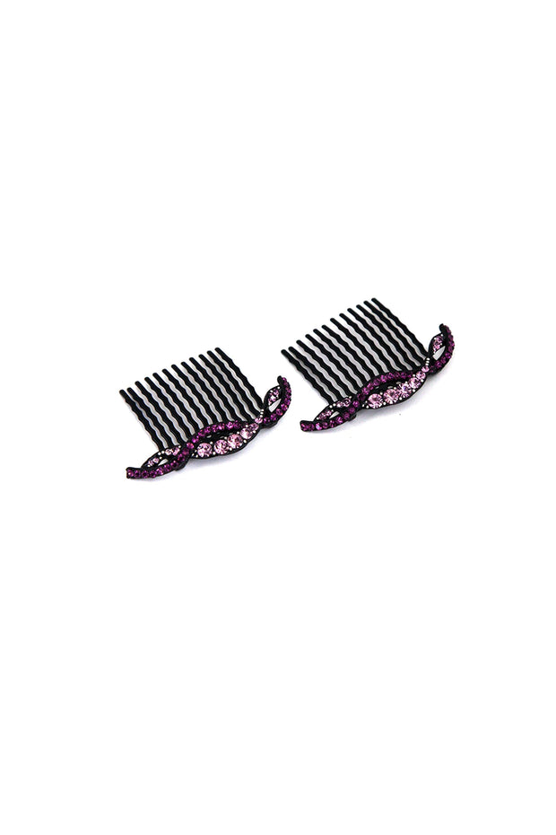 Soho Style Hair Comb purple Summer Wave Crystal Hair Comb (Sold as a Pair)