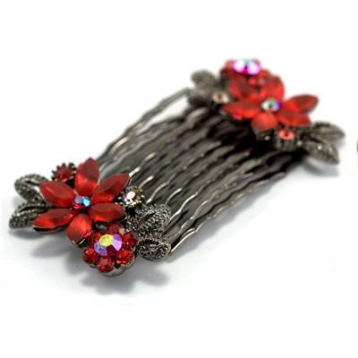 Frosted Flowers Hair Comb (Pair) Hair Comb Soho Style