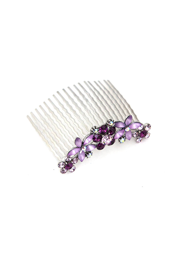 Soho Style Hair Combs Jane Frosted Flower Crystal Hair Comb (Sold as a pair)