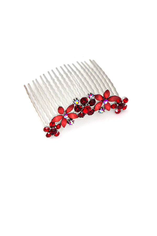 Black Friday - Jane Frosted Flower Crystal Hair Comb (Sold as a pair) Special