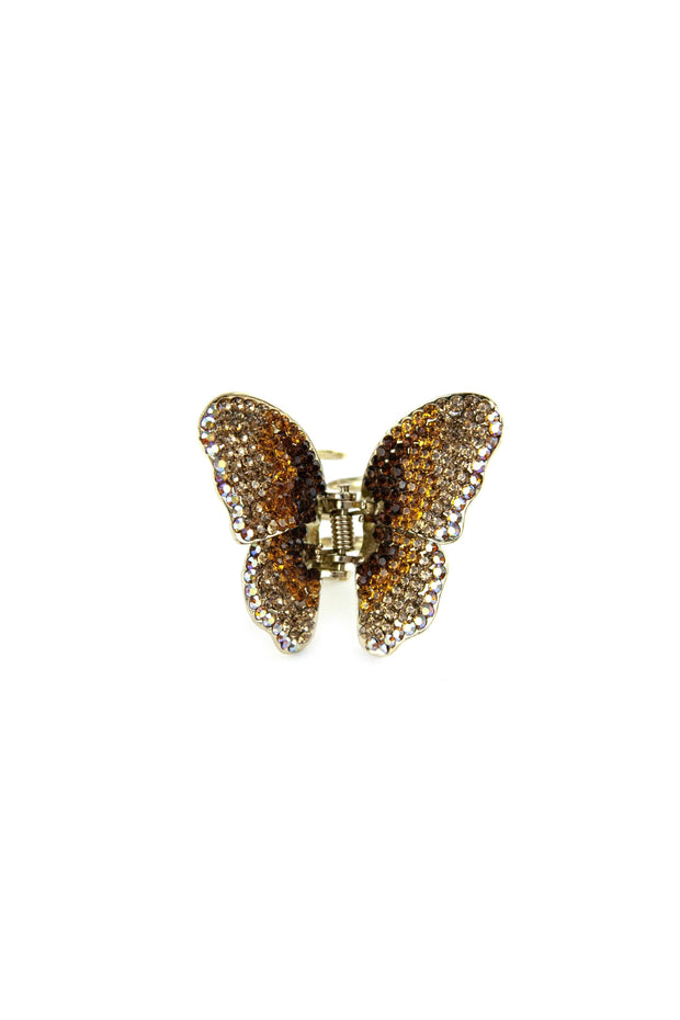 Soho Style Hair Jaws Amber / Single Ombre Crystal Butterfly Jaw