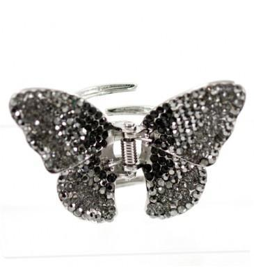 Soho Style Hair Jaws Black / Single Ombre Crystal Butterfly Jaw