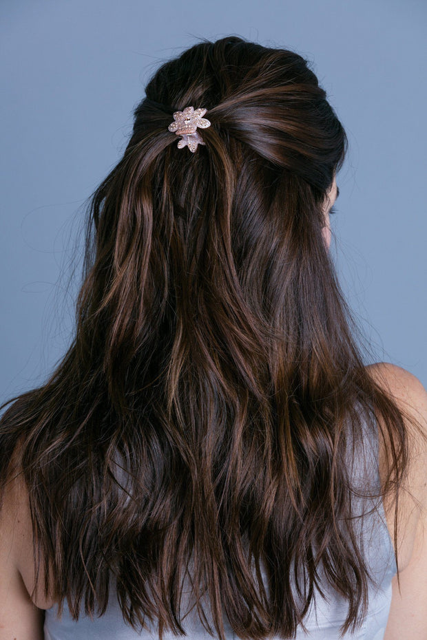 Soho Style Hair Jaws Mini Sparkle Floral Jaw
