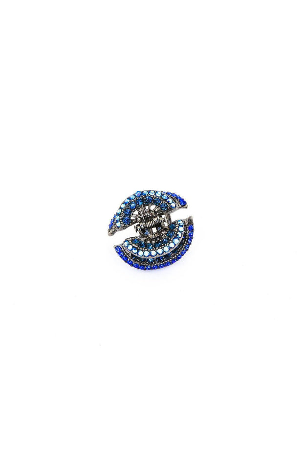 Soho Style Hair Jaws Navy Blue Inca Styled Crystal Jaw