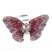 Soho Style Hair Jaws Pink / Single Ombre Crystal Butterfly Jaw