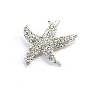 Soho Style Hair Jewelry Clear Starfish Barrette