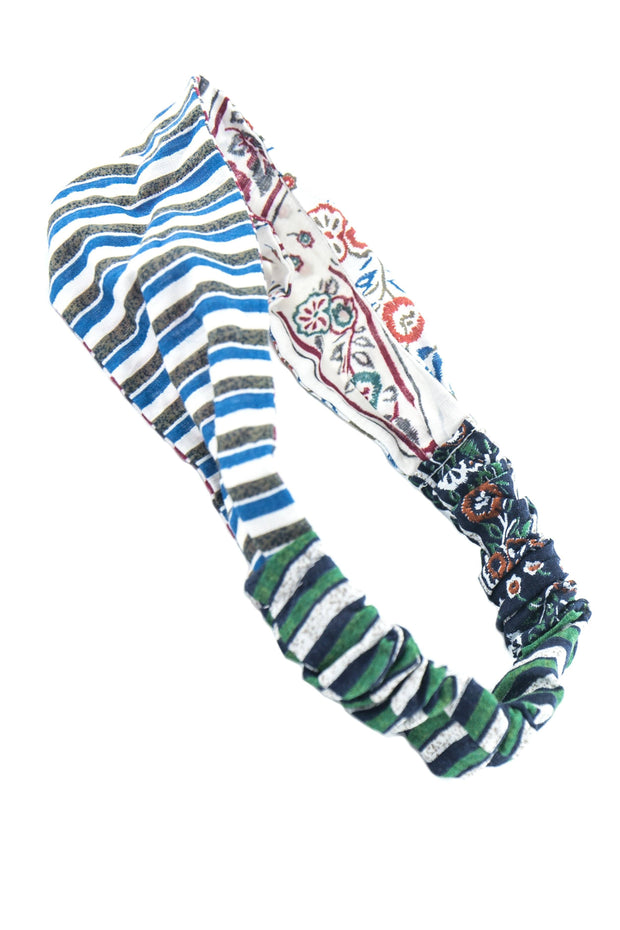 Soho Style Headband Paisley Striped Elastic Head Wrap