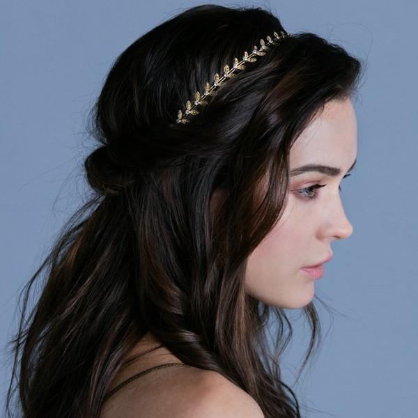 Greek Goddess Golden Wreath Elastic Headband -  Headband, Soho Style