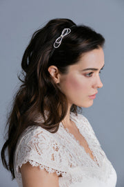 Soho Style Headbands Simple Crystal Bow Headband