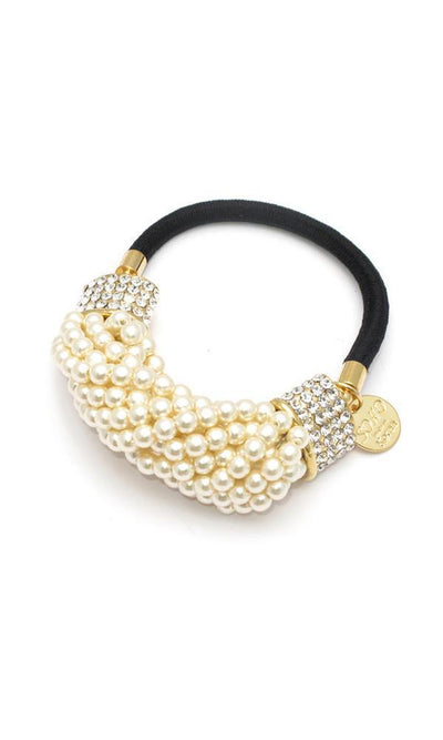 Soho Style Ponytail Holder clear Pearl Cluster Ponytail Holder