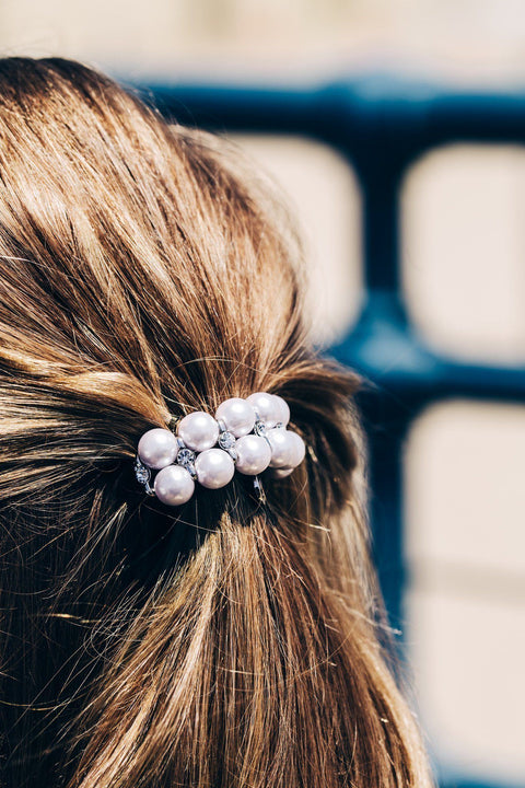 Double Pearl Ball Ponytail Holder - Ponytail Holders 34b4f460ff1