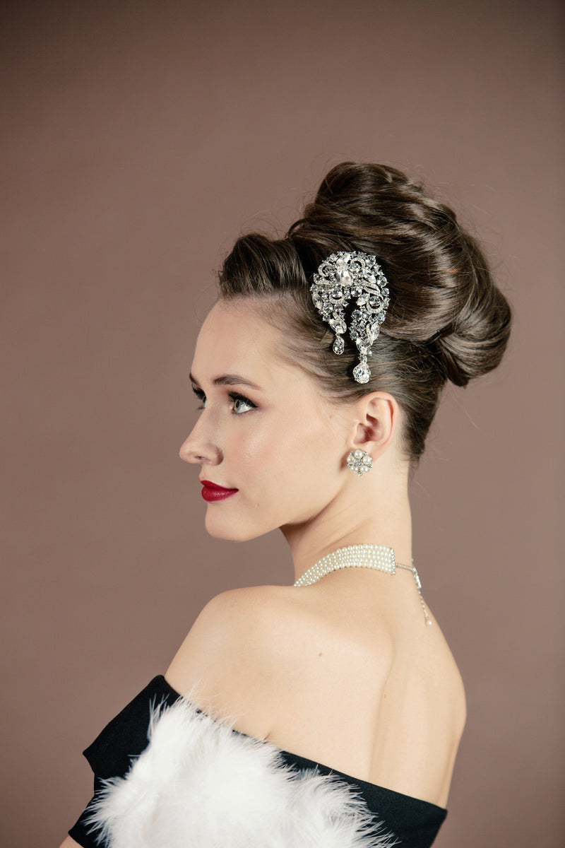 Claire Large Crystal Barrette - Soho Style