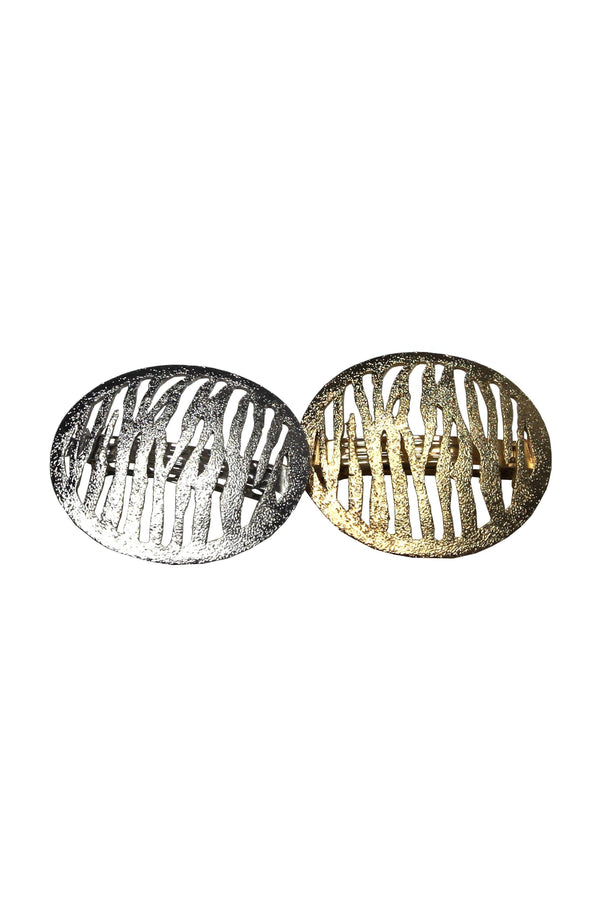 Soho Style Sale gold Catrine Metallic Oval Barrette