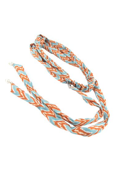 Soho Style Sale orange chevron Long Tail Twist Head Wrap