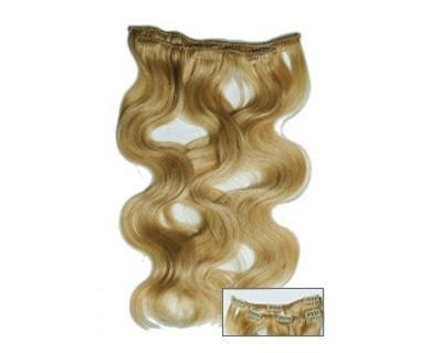 "Soho Style Sale S01: H. Light Blonde Stella - 15"" Clip-In Human Hair Extension"
