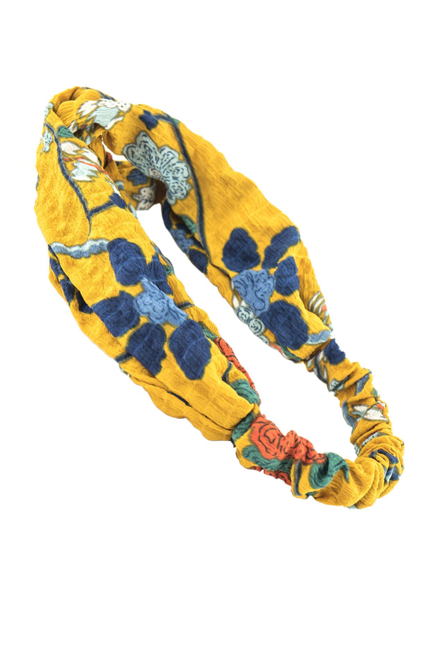 Soho Style Sale yellow wrap Tropical Print Head Wrap