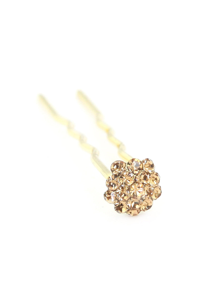 Soho Style Stick Amber Mini Crystal Cluster Hair Stick