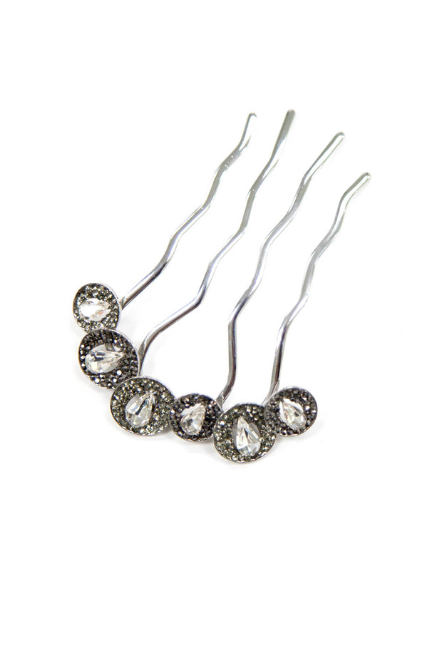 Soho Style Stick Black Luxury Crystal Teardrops Stick