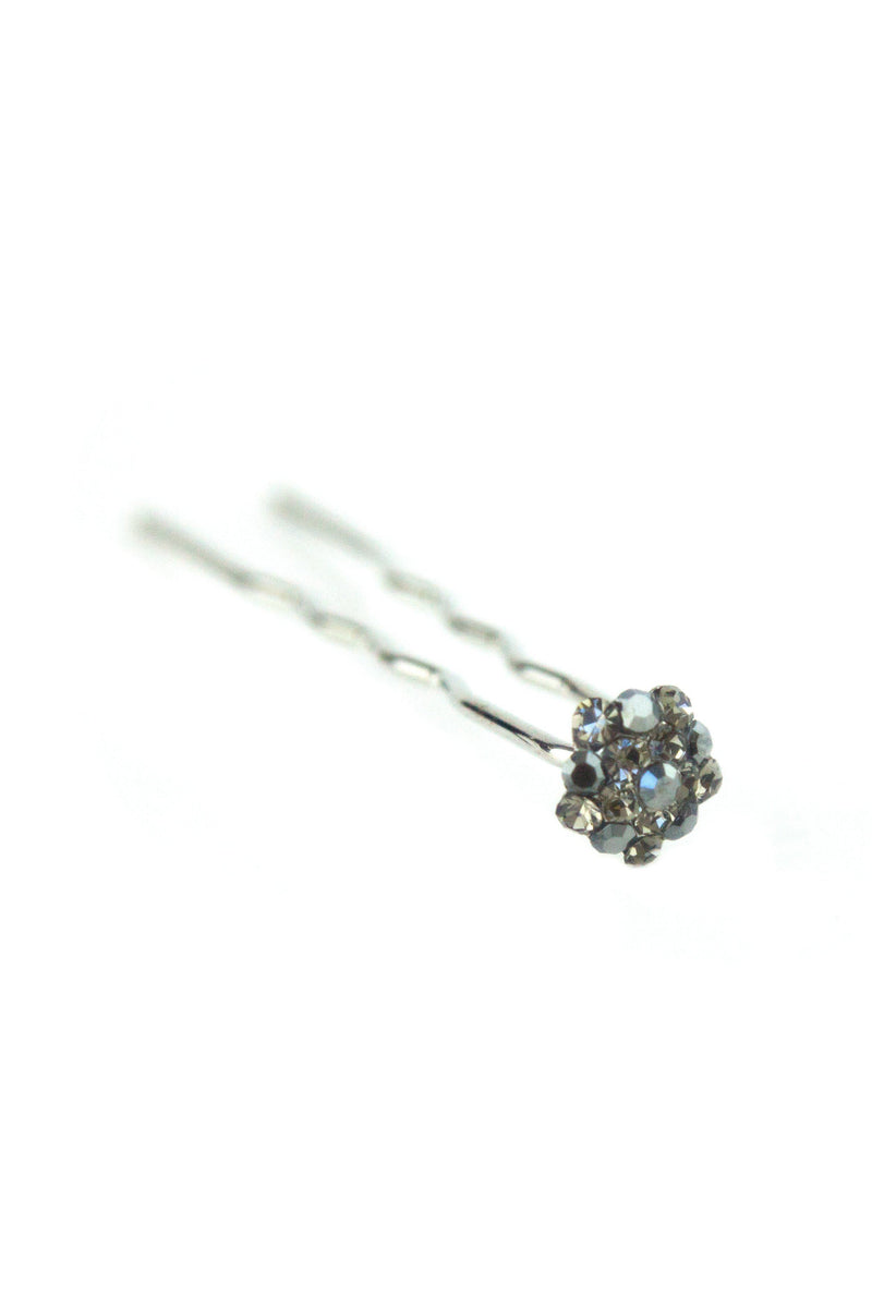 Soho Style Stick Black Mini Crystal Cluster Hair Stick