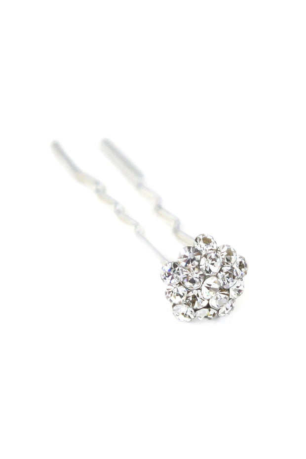 Soho Style Stick Clear Mini Crystal Cluster Hair Stick