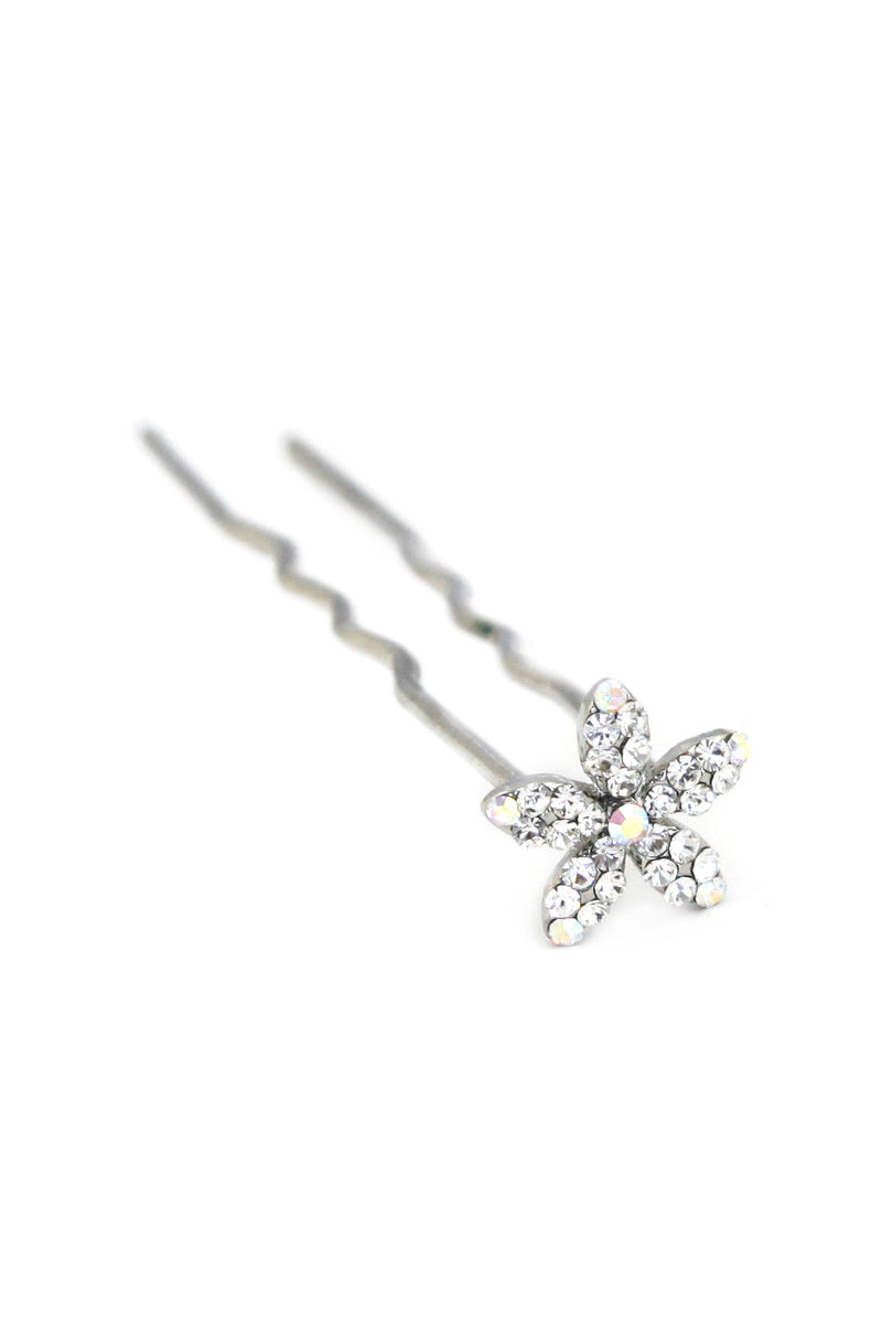 Soho Style Stick Clear Small Crystal Daisy Hair Stick